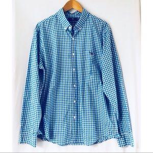 Vineyard Vines Blue Check Slim Fit Tucker Shirt XL